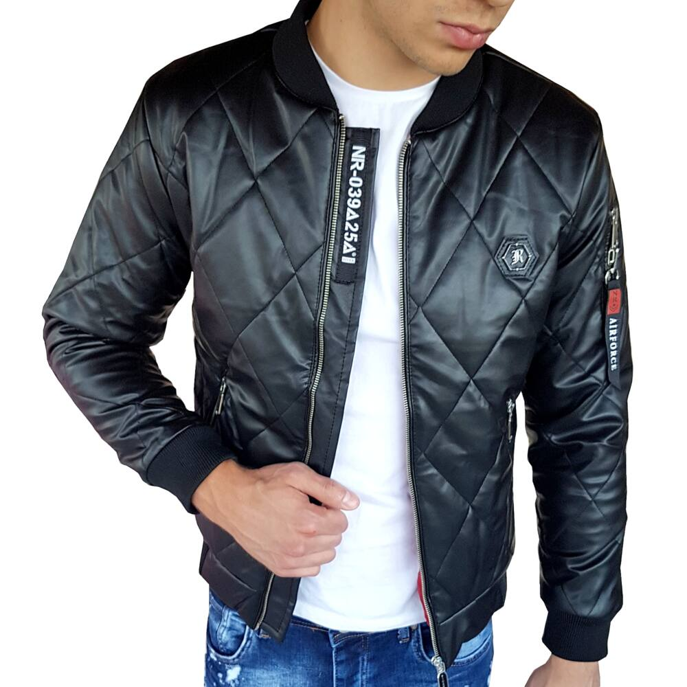 WAVERLY BLACK - Férfi Cipzáros kabát  - TOP DESIGN
