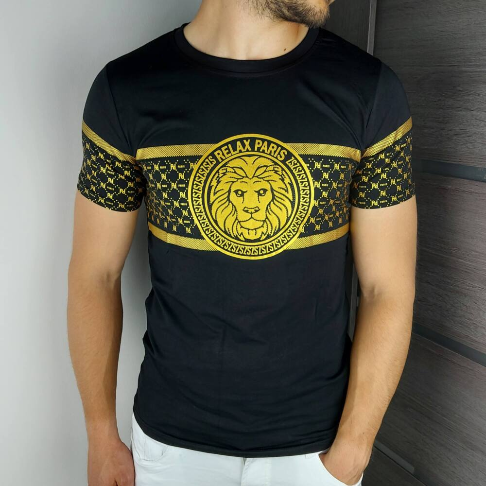 GASSO GOLD - Férfi póló - Slimfit szabás