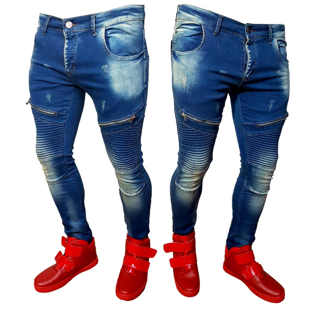 MIAMI BLUE - Férfi farmer nadrág - Slimfit szabás - Kék színű