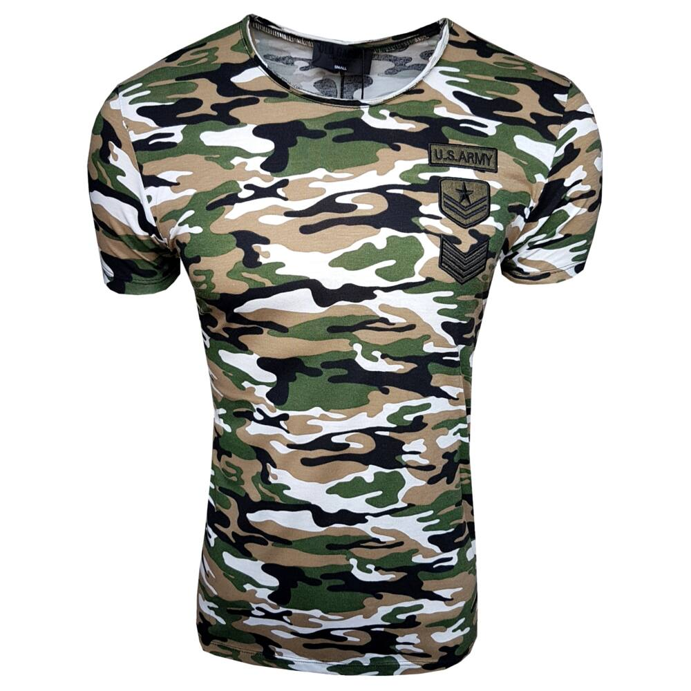 US ARMY GREEN - Férfi póló - Slimfit szabás